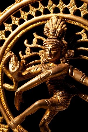 bharatanatyam dance: Statue of indian hindu god Shiva Nataraja - Lord of Dance close up Stock Photo