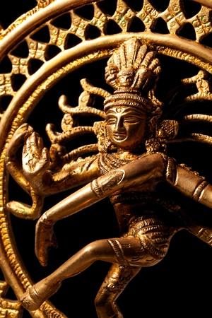 indian classical dance: Statue of indian hindu god Shiva Nataraja - Lord of Dance close up Stock Photo