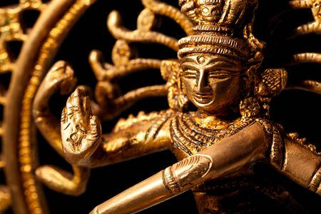 hindu god: Statue of indian hindu god Shiva Nataraja - Lord of Dance close up Stock Photo