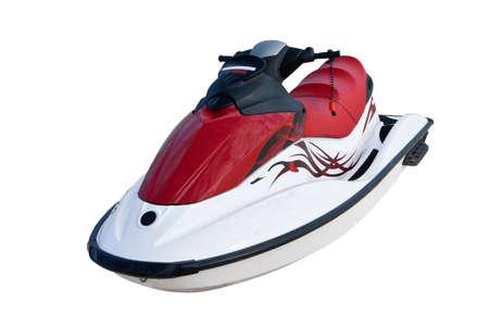 moto acuatica: Jet ski en la arena de la playa cerca de mar