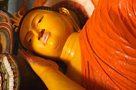 dagoba: Reclining Buddha Image. Abhayagiri Dagoba, Anuradhapura, Sri Lanka Stock Photo