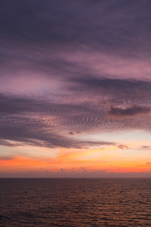 varkala: Ocean sunset on Arabian sea. Varkala, Kerala, India