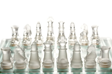 Glass chess on chessboard Stock Photo - 9899023