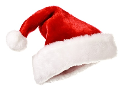 Santa's red hat isolated on white Stock Photo - 9899018
