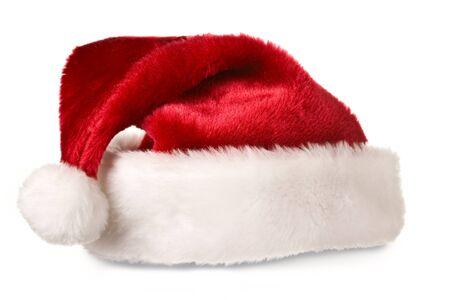 Santa hat isolated on white photo