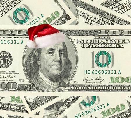 Dollar Santa - Christmas shopping concept.