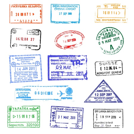 Passport stamps Stock Vector - 11063240