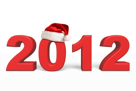 hat new year s eve: New Year 2012 Christmas coming Stock Photo
