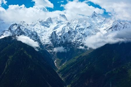 himachal pradesh: Himalayas - Kinnaur Kailash range. Kalpa, Himachal Pradesh, India Stock Photo