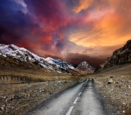 earthroad: Road in mountains Stock Photo