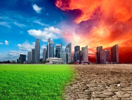 Die globale Erwärmung Effekt in der Stadt