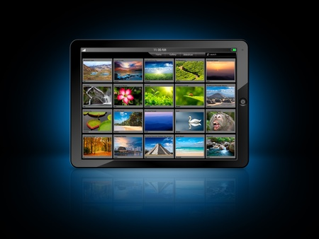 Tablet PC with photo gallery Stock Photo - 11547133