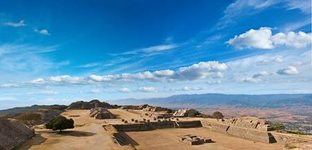 oaxaca: Panorama of sacred site Monte Alban. Oaxaca, Mexico Stock Photo