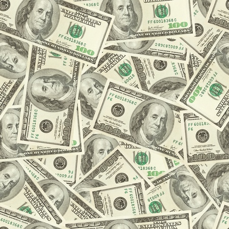Dollars money seamless background Stock Photo - 12604942