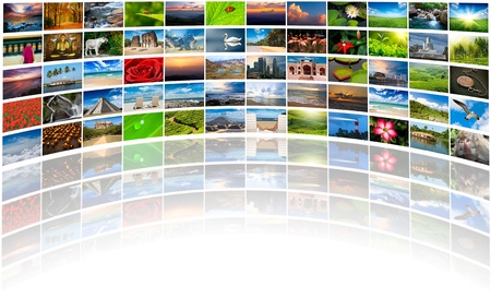 multimedia background with copyspace photo