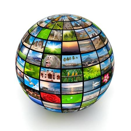 diaporama: Image isol� monde Banque d'images