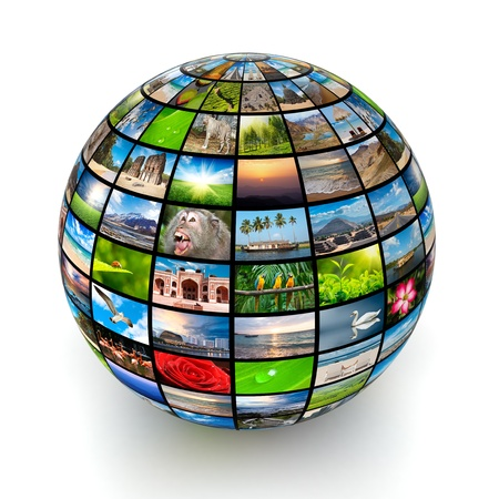 telecomm: Picture globe isolated