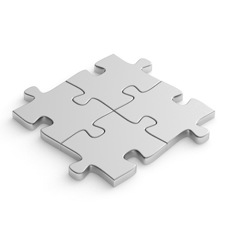 Jigsaw puzzle metal photo