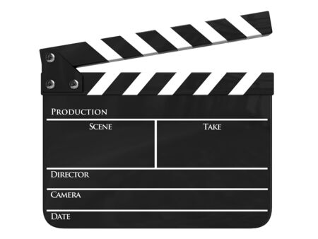Clapboard (clapperboard) isolated photo