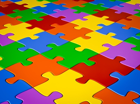 Jigsaw puzzle background photo