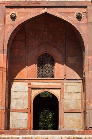 tumbas: Barber, en la Tumba de Humayun complejo de tumbas. Delhi, India