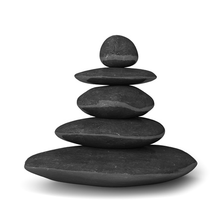 stack rock: Zen stones balance concept isolated on white