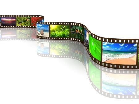 Photo film with reflection on white Reklamní fotografie