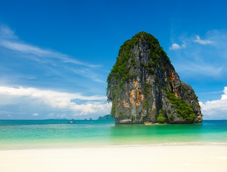 Pranang beach. Krabi, Thailand photo