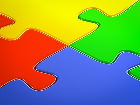 Jigsaw puzzle close up background photo