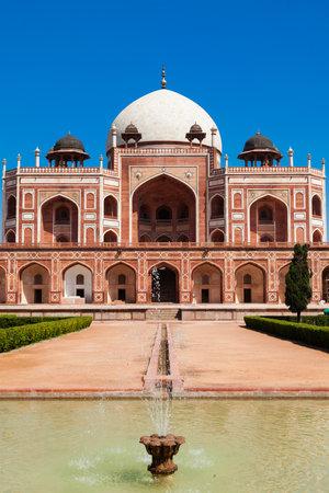 frontal view: Humayuns Tomb. Delhi, India.  Frontal View