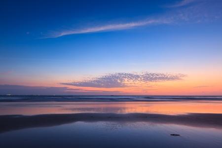 peacefulness: Sunset on Baga beach. Goa, India