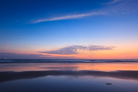 quiet scenery: Sunset on Baga beach. Goa, India