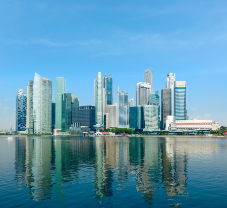 city centre: Modern city skyline of business district downtown in day Stock Photo