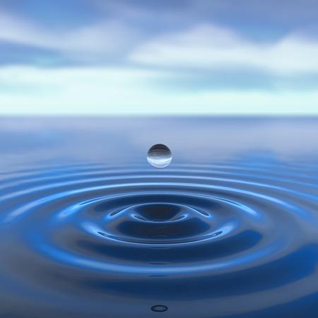 quiet scenery: Peace concept - water drop Stock Photo
