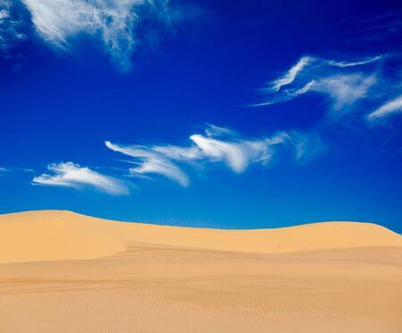 White sand dunes on sunrise, Mui Ne, Vietnam Stock Photo - 15446310