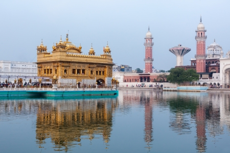 Sikh gurdwara Golden Temple (Harmandir Sahib). Amritsar, Punjab, India photo