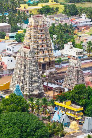 pallava: Gopura ( towers) of  Lord Bhakthavatsaleswarar Temple near Chengalpet. Tamil Nadu, India Stock Photo