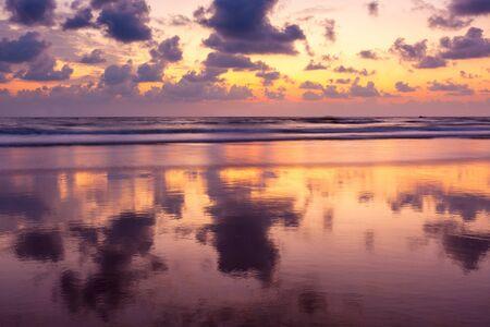 Sunset on Baga beach. Goa, India Stock Photo - 15607065