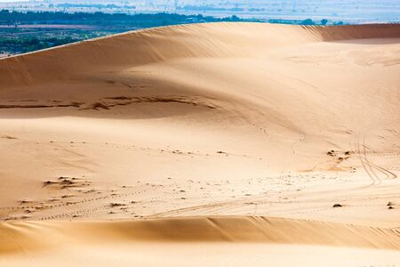 White sand dunes, Mui Ne, Vietnam Stock Photo - 15607210
