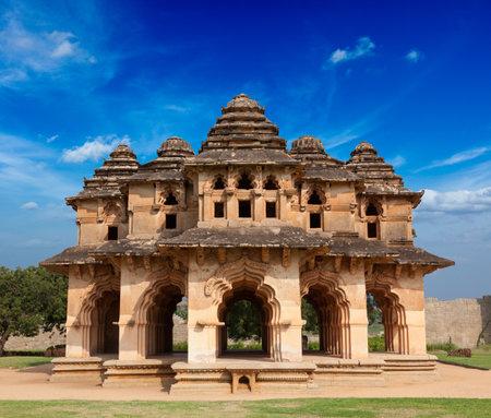 karnataka: Lotus Mahal. Royal Centre. Hampi, Karnataka, India Editorial