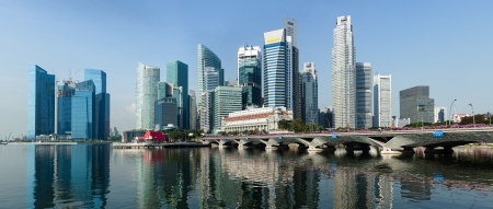 Singapore business district panorama