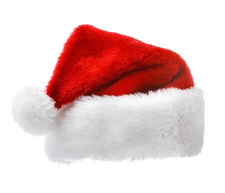 Christmas concept - Santa Claus red hat isolated on white background photo
