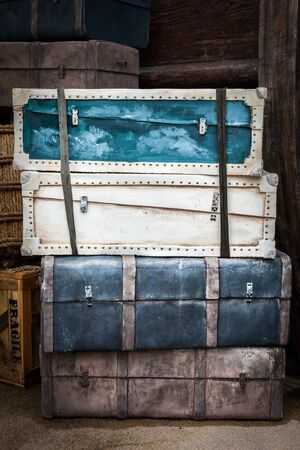 Vintage luggage crates, boxes, suitcases