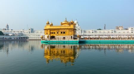 darbar: Gurdwara Sikh Golden Temple (Harmandir Sahib). Punjab, India