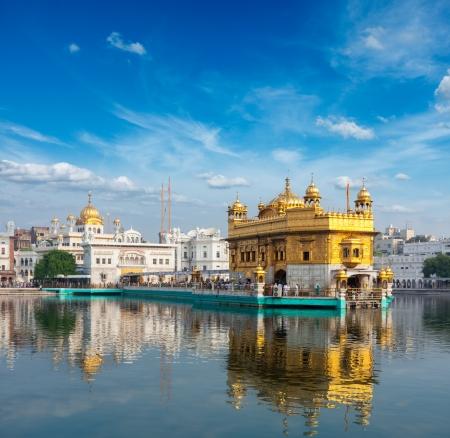 シーク gurdwara 黄金寺院 (ハリマンディル ・ サーヒブ)。アムリトサル、パンジャブ、インド