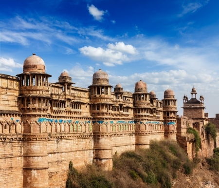India tourist attraction - Mughal architecture - Gwalior fort  Gwalior, Madhya Pradesh, India Stock Photo