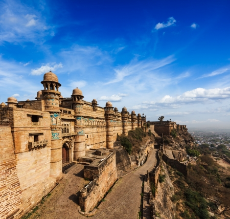 mughal: India tourist attraction - Mughal architecture - Gwalior fort  Gwalior, Madhya Pradesh, India Stock Photo
