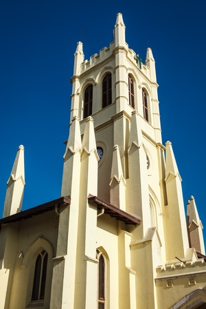 christ church: Christ Church, Shimla, is the second oldest church in North India. Himachal Pradesh, India Stock Photo