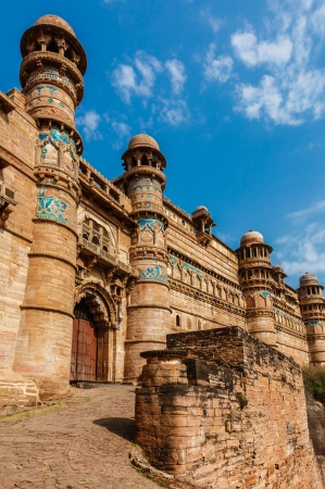 mughal architecture: India tourist attraction - Mughal architecture - Gwalior fort. Gwalior, Madhya Pradesh, India