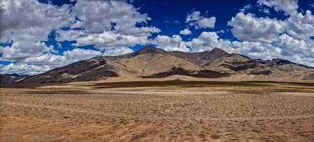plains indian: Panorama of Himalayan landscape in Himalayas along Manali-Leh road. Himachal Pradesh, India Stock Photo